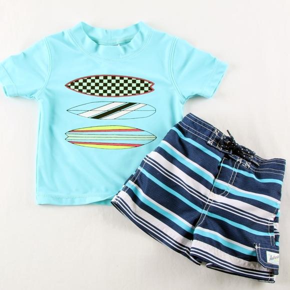9d01e2cec8 Carter's Swim | Carters Boys 12 Mo Trunkrashguard Shirt Set | Poshmark
